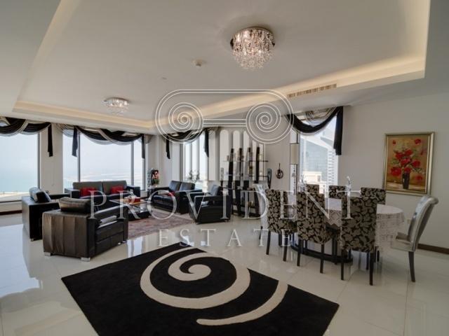 JBR,Rimal,Vacant 4 bedroom Duplex Penthouse,Sea View