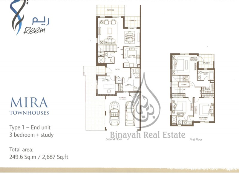 3 Bedroom Townhouse Type 1E in Mira for Rent