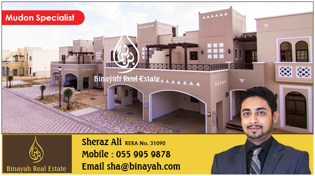 Single Row 4 Bed Townhouse Type A in Mudon for  Rent