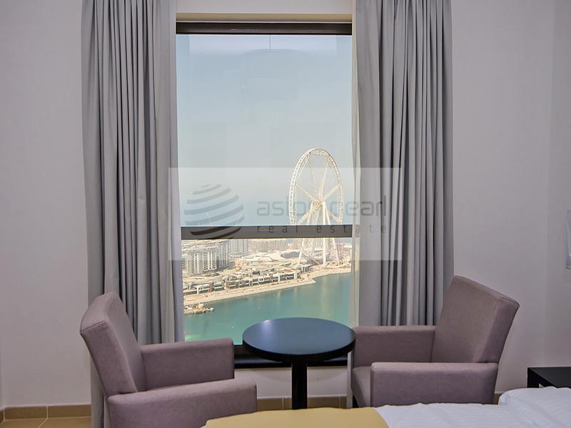 Renovated 2 BR , Full Sea and Ain Dubai