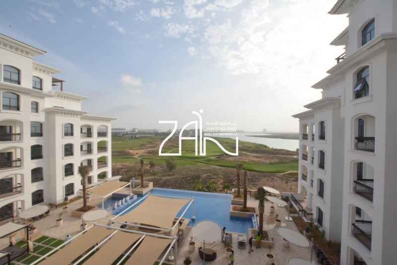 Golf/Sea View 2 BR Apt with Two Balconies