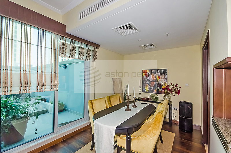 Furnished 1BR with Terrace On Low Floor