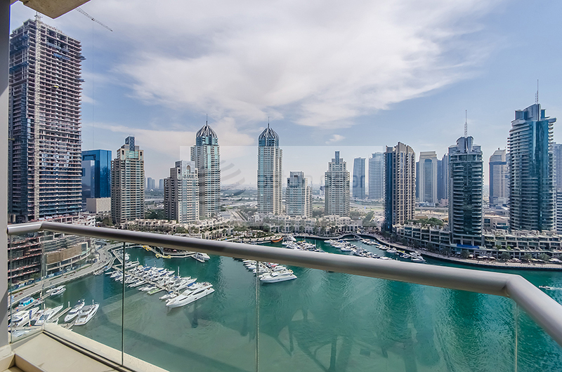 Full Marina View, 2 BR with 2 Balconies