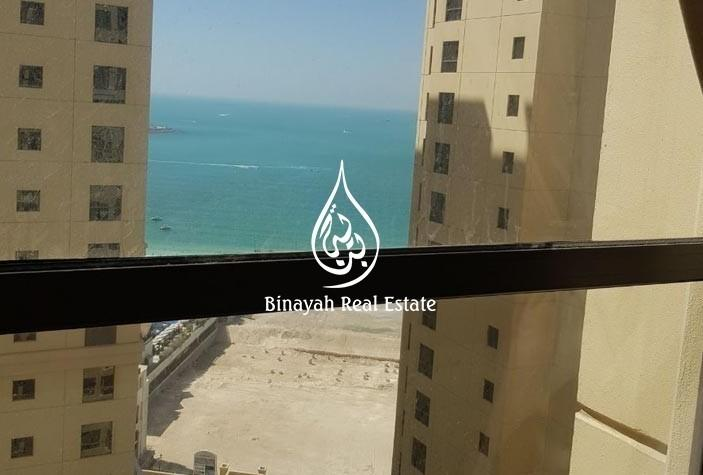 Furnished 1 BR Partial sea and Marina view