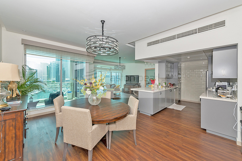 Upgraded 3 BR + Maid's with Full Marina View