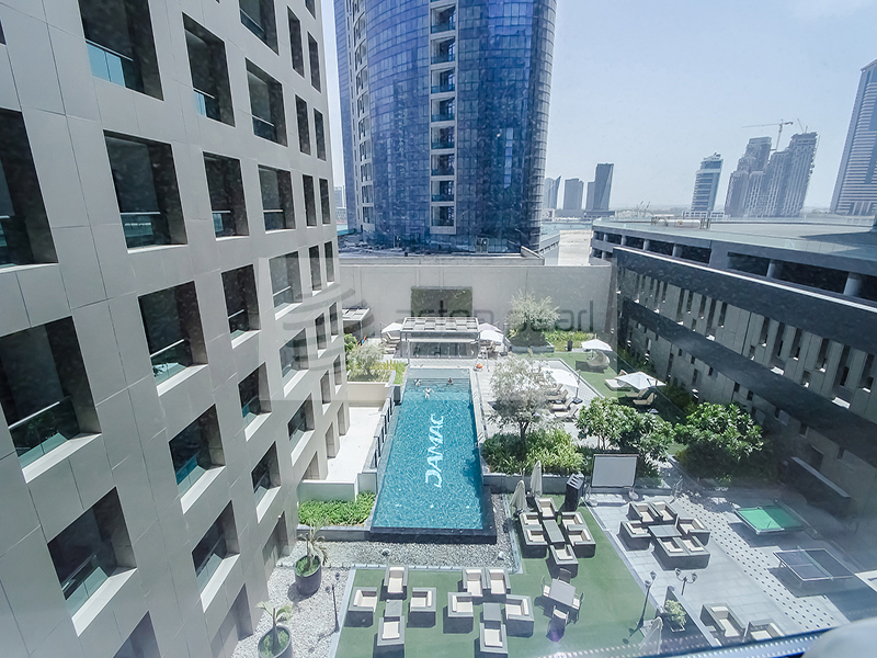 Fully Furnished 1 BR , Amazing Pool View