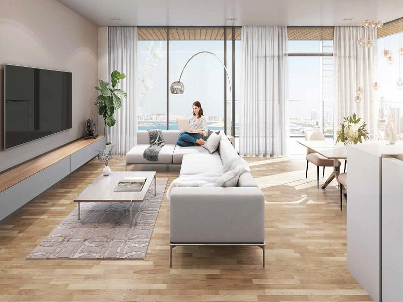 Dubai Eye + Sea View,Large Beds,No Comm
