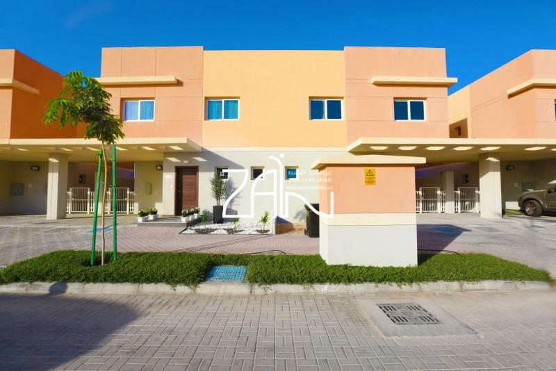 Corner Single Row 3 BR Villa with Garden