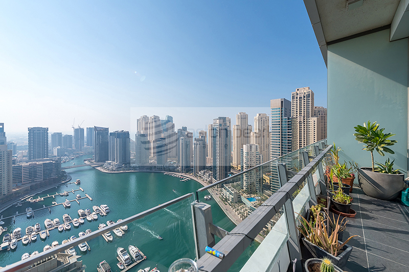 Furnished 1 BR | High Floor | Marina View