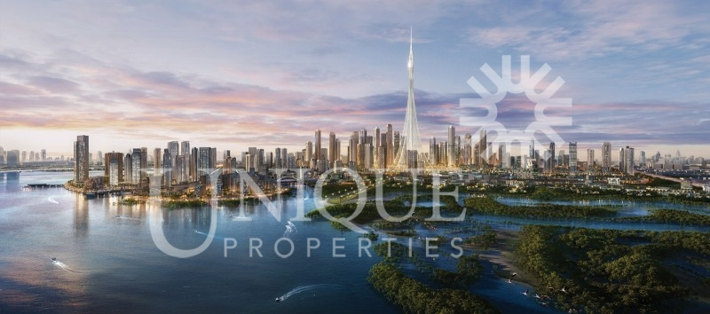 Full Creek and Burj view 3BR in Creek Res North T1
