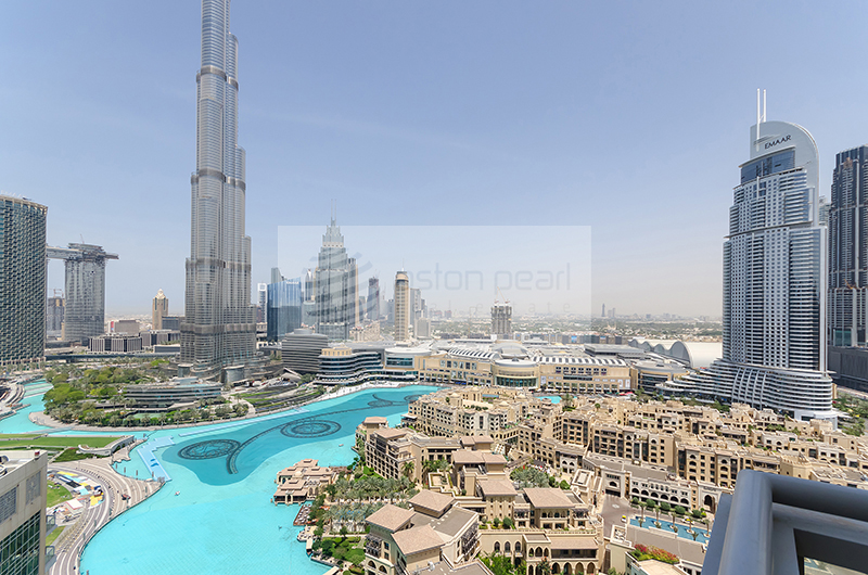 Burj and Fountain View from your Window
