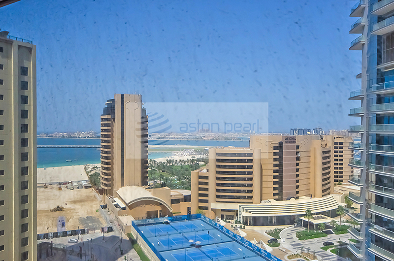 Marina and Sea View, Furnished 2 BR + Study