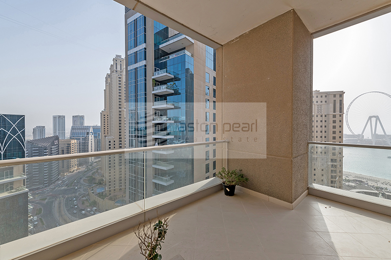 Rare unit with huge balcony | Marina and Sea view