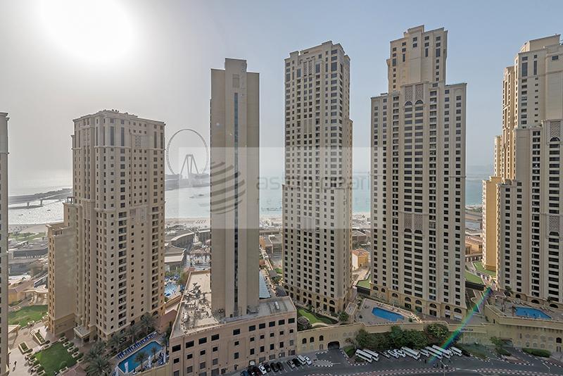 On High floor| Huge Balcony | Marina and Sea view