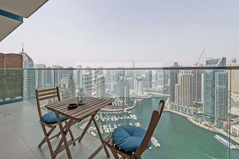 Fully Furnished 1 Bed With Full Marina View