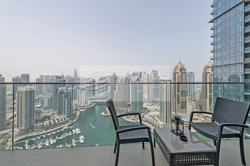 Full Marina View, Fully Furnished High Floor 1BR