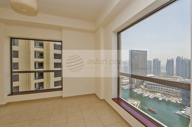 2BR, On High Floor, Full Marina and Sea View