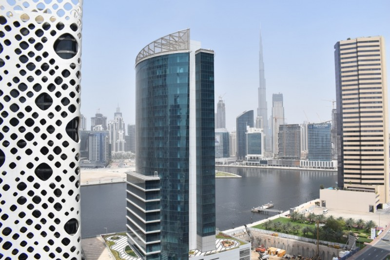 High Floor I 3 BR + Maid I Canal & Burj View