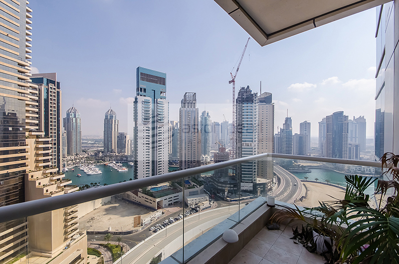 Fully Furnished 1BR with Full Marina view