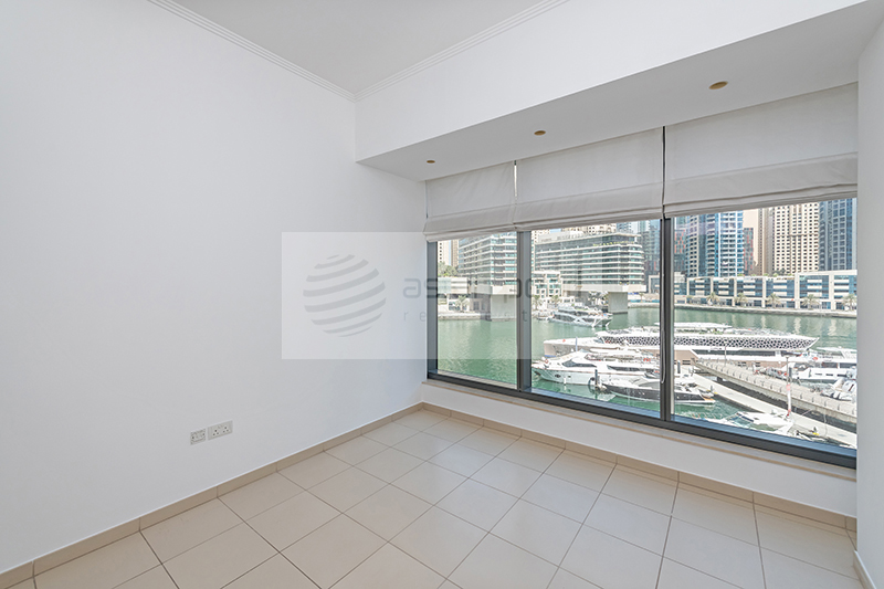 Low Floor, 1BR with Full Marina View, Vacant Now