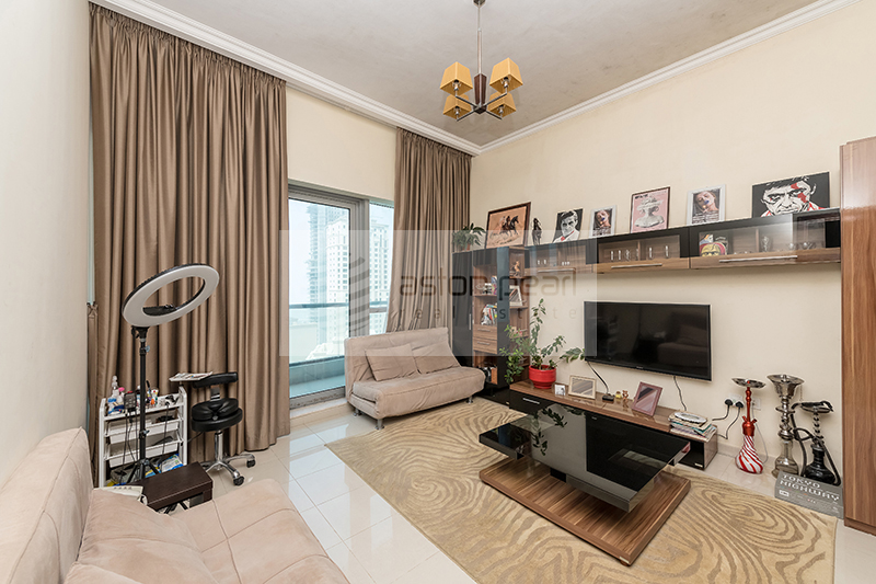Fully Furnished 1BR, Biggest Layout, Sea View