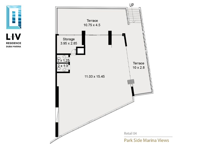 Waterfront Retail available with Full Marina View