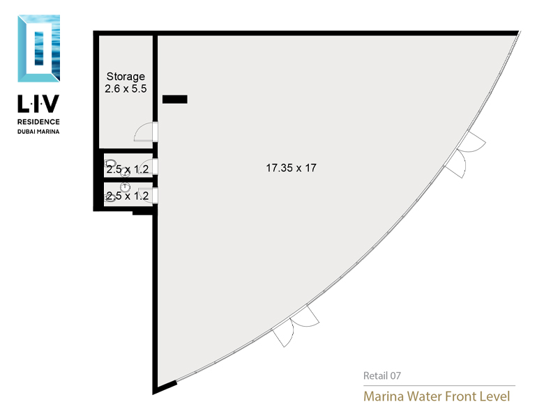 Retail Space with Great Visibility Street Marina
