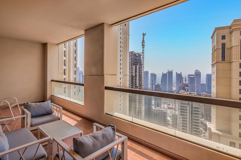 Huge Balcony | Marina Views | High Floor | Rented